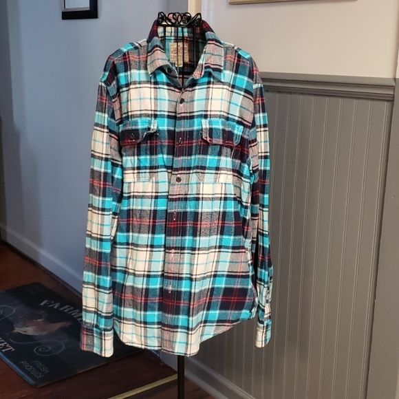 🧥AMERICAN EAGLE HERITAGE STYLE FLANNEL SHIRT